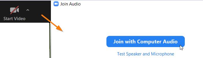 Zoom connect audio device