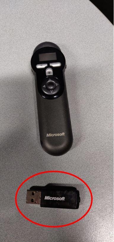 Esityskapulan USB-lähetin.