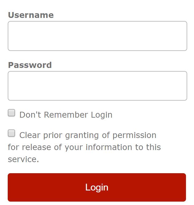 kirjautumisikkuna, jossa on punainen login-painike.