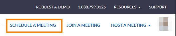 zoom web portal schedule meeting