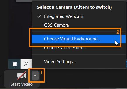 zoom choose virtual background
