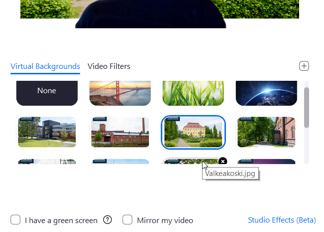 zoom select virtual background