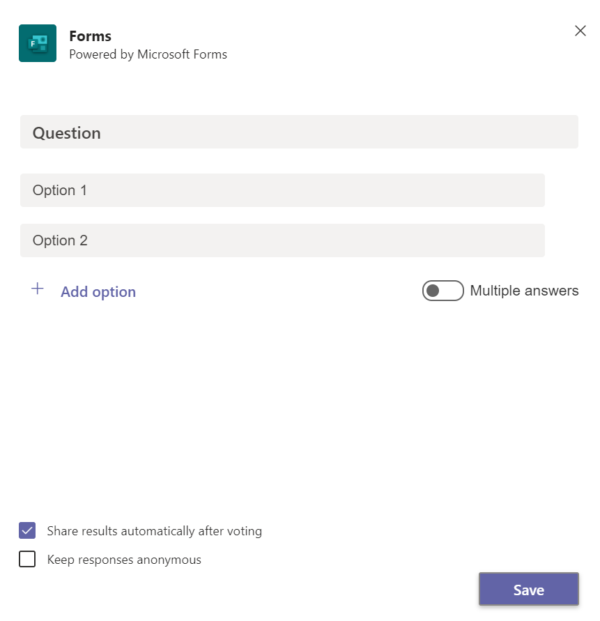 Forms query form options.