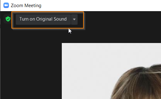 Zoom turn on original sound