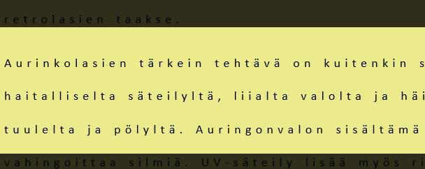 Tekstiä, jossa kirjainten välistys toteutettu.
