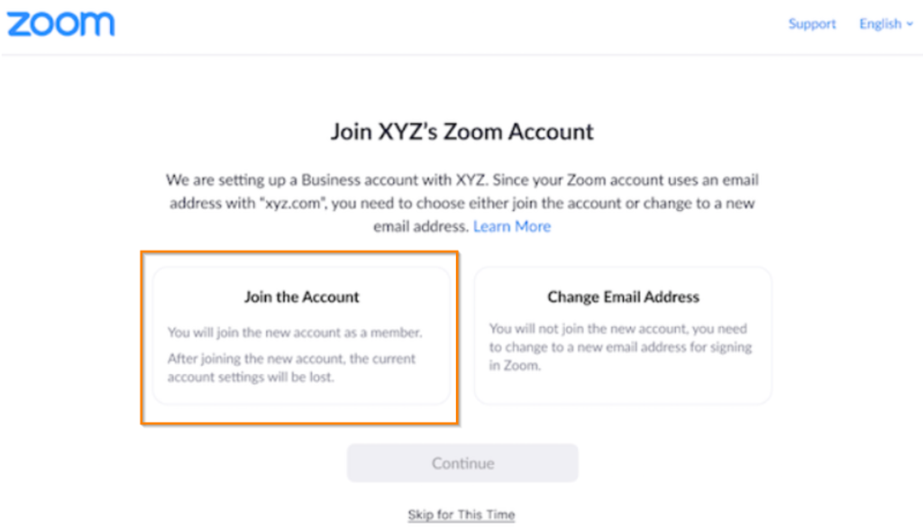 zoom account consolidation
