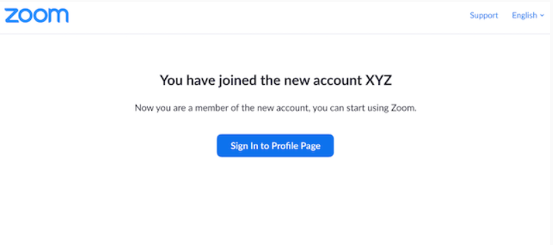 zoom joined account